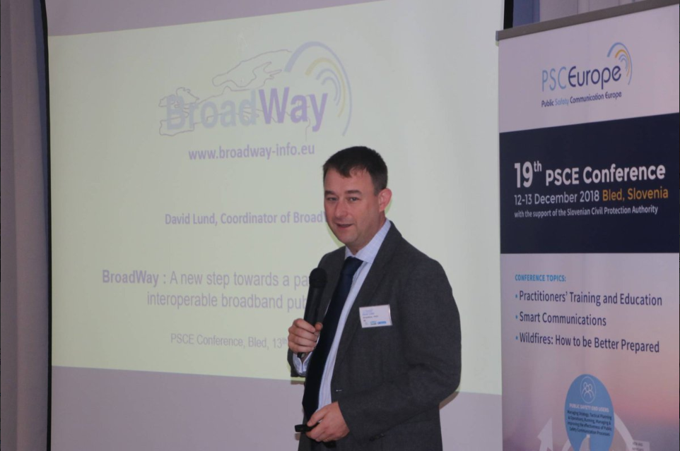 BroadWay Presentation At 19th PSCE Conference And 5G For PPDR Workshop In Bled